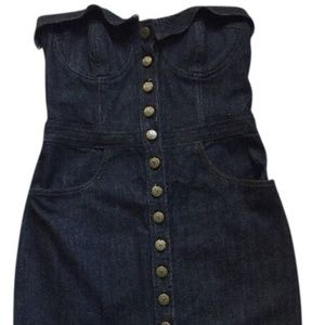 Denim pencil fitted Betsey Johnson dress